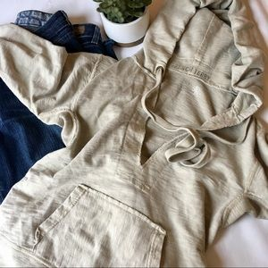 {J. Crew} French Terry 100% Cotton Hoodie in Sand